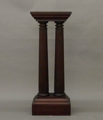6: Mahogany display pedestal