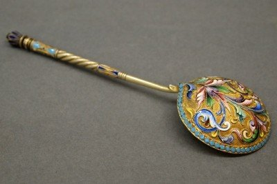 14: Russian Enameled spoon