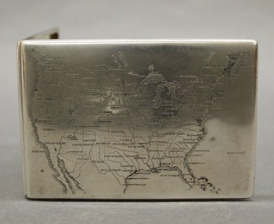 23: Sterling Cigarette case