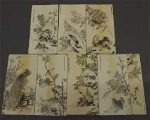 77: 8 carved Ivory panels