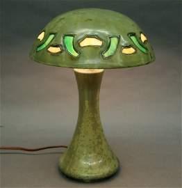 122: Fulper Pottery lamp
