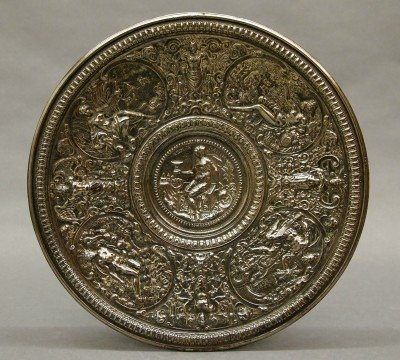 20: Silver plated salver