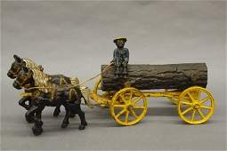 67: Hubley Log wagon