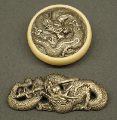 14: Japanese Netsuke and pin