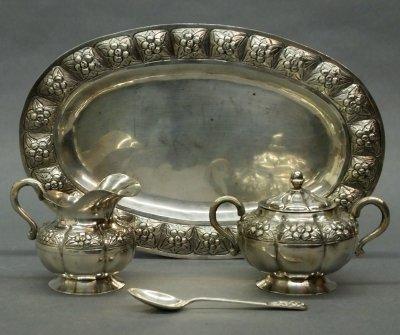 29: Mexican Silver tea set