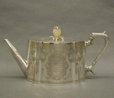 30: Sterling Silver teapot