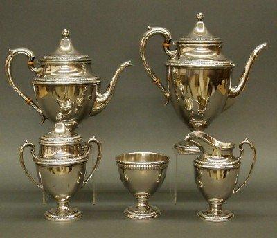 31: Sterling tea set