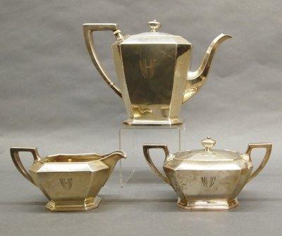 34: Gorham Sterling tea set