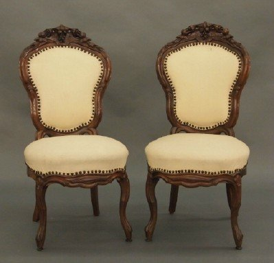 50: Pr of Victorian Rosewood chairs