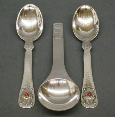 3: 3 Georg Jensen spoons