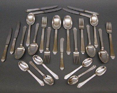 4: 26 pc Danish Silver flatware