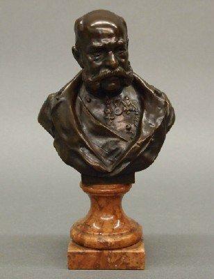 5: H Muller Bronze bust