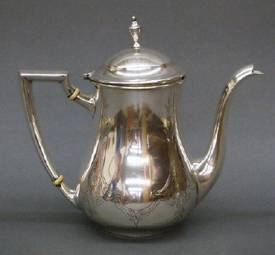 8: Sterling tea pot
