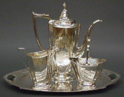 15: Sterling tea set