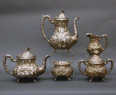 16: Stieff Sterling tea set