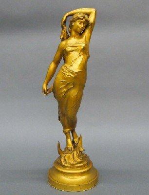 79: Gilded Bronze figure