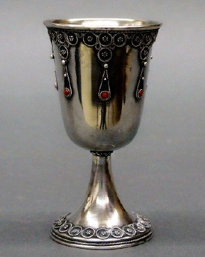 Sterling footed cup