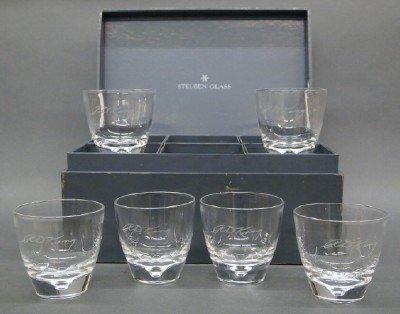 6 Steuben glasses