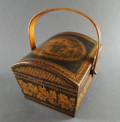 Victorian Penwork sewing box