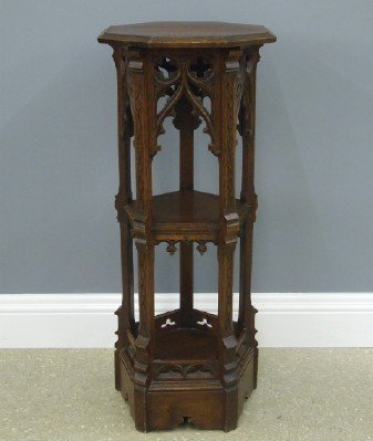 Gothic Revival display pedestal