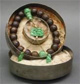 Chinese jade and wood prayer beads