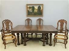 Walnut dining set