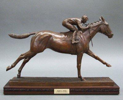 """M. Newmark """"Man o' War"""" Bronze Sculpture"""