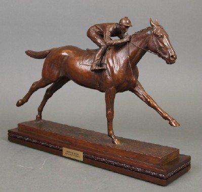 """M. Newmark """"Man o' War"""" Bronze Sculpture - 2"""