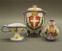 3 pcs CA French Faience