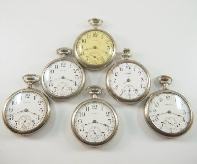 """6 AWW Co. """"Equity"""" model pocket watches"""