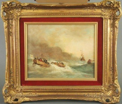 Nautical oil painting