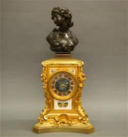 French Pietre Dura clock