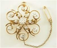 Gold and Diamond pin