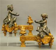 French Bronze chenets