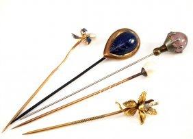 5 Vintage Stick Pins