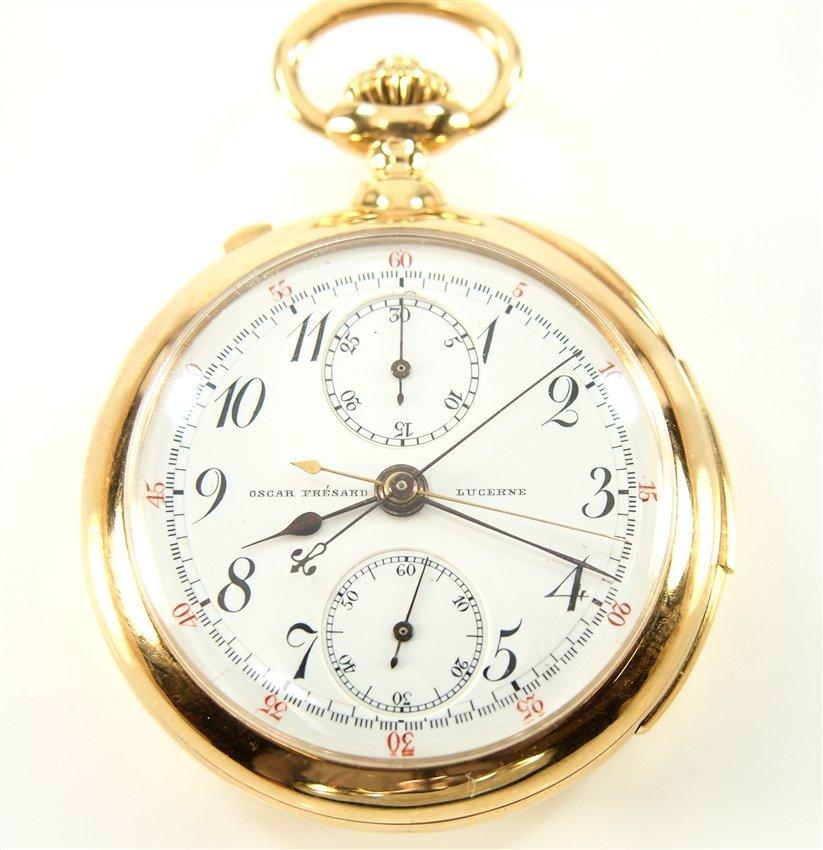 18k Oscar Fresard Chronograph Minute Repeater pocket