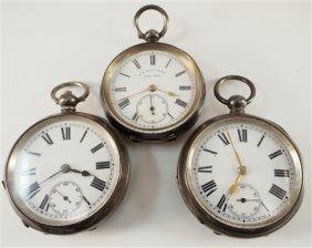 3 Swiss/english Pocket Watches