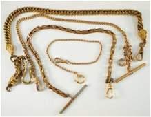 4 GF pocket watch chains