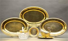 6  Cristofle Malmaison serving pieces