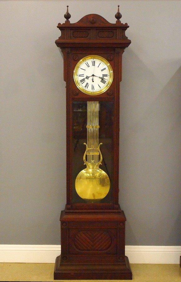 """Waterbury """"Regulator No. 61"""" floor clock"""
