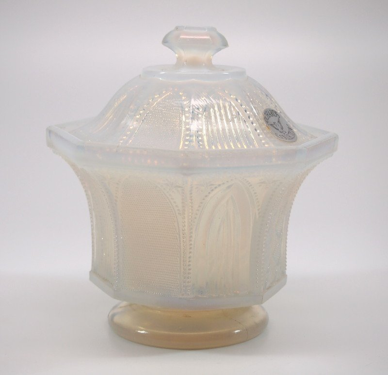 Pressed Gothic Arch covered sugar bowl