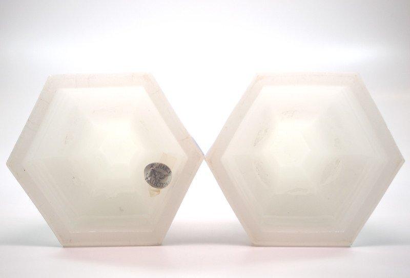 Pressed Acanthus candlesticks, pair - 2