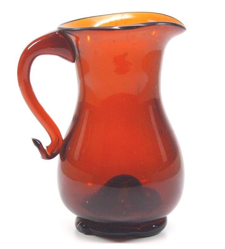 Free-blown cream jug