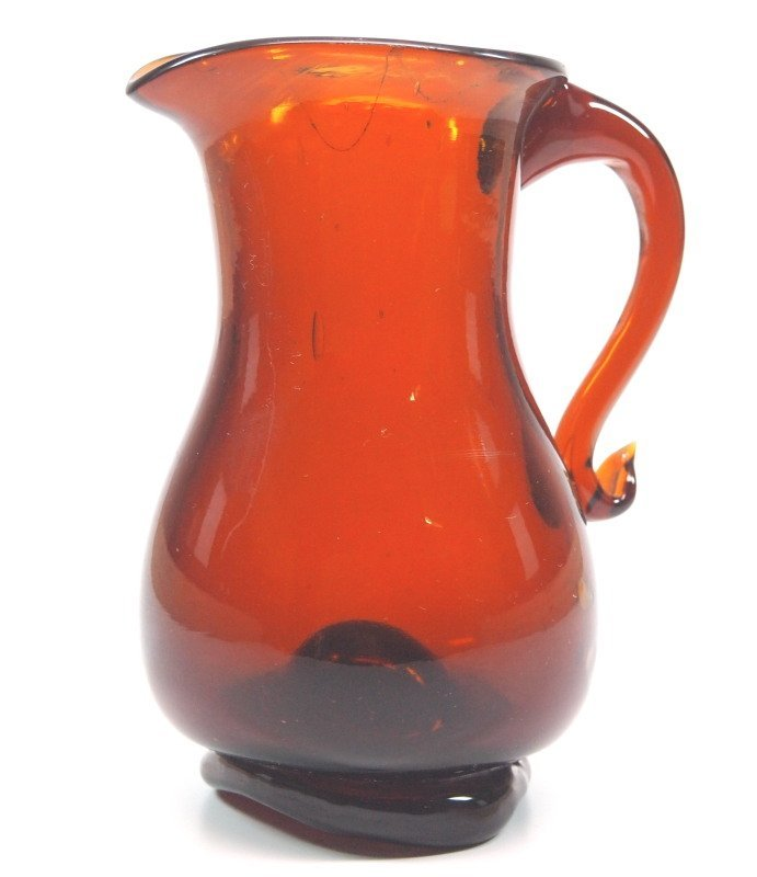 Free-blown cream jug - 2