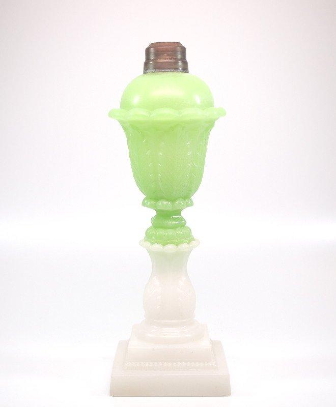 Pressed Acanthus Leaf oil/fluid lamp
