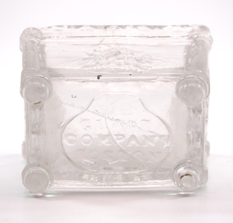 Pressed & lacy glass salt dishes, five - 4