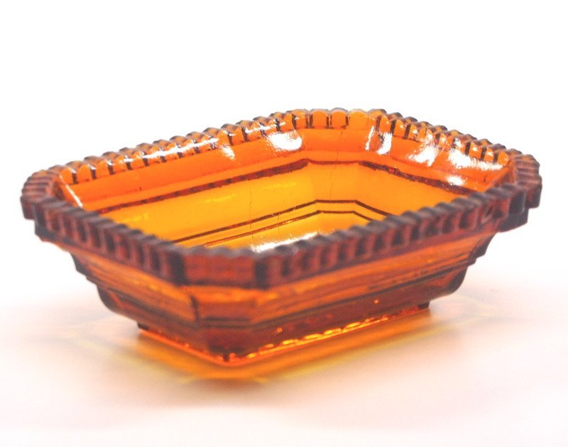 Pressed & lacy glass salt dishes, five - 6