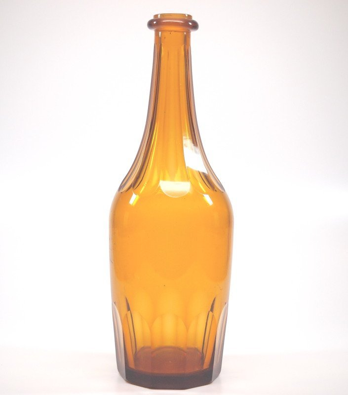 Free-blown and cut bottles, three - 4