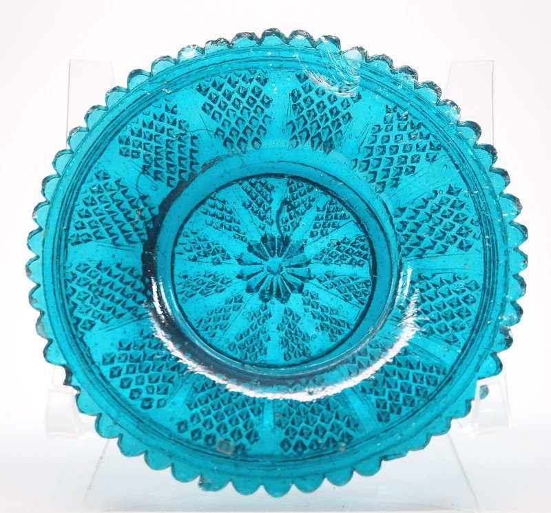 Lacy glass cup plate