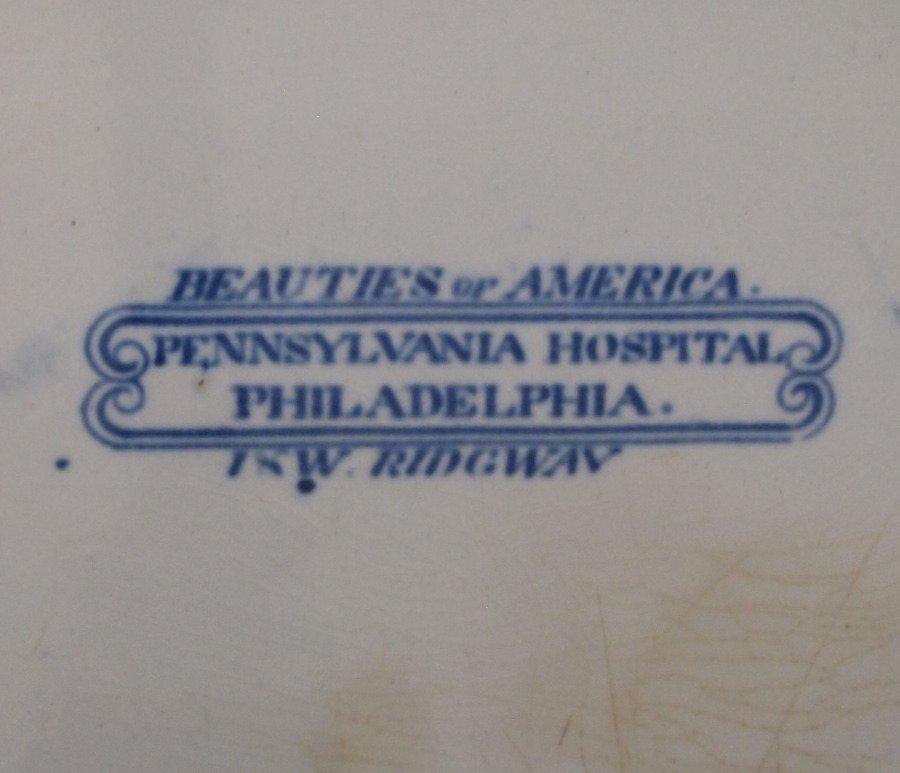 PA Hospital Historical platter - 2